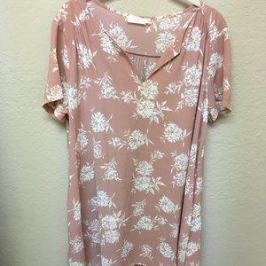 Lush Floral Mini Dress w/ Pockets